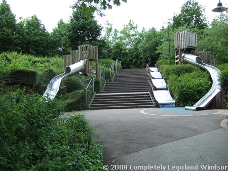 The stairs leading from the Beginning to the Imagination Centre